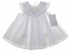 NEW Will'Beth White Baby Sundress with Duck Appliques