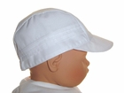 NEW Will'Beth White Batiste Pintucked Baby Hat