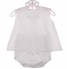 NEW Will'Beth White Cotton Diaper Set with Embroidered Diaper Cover