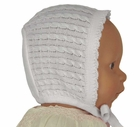 NEW Will'Beth White Cotton Knit Hat with Cable Stitching