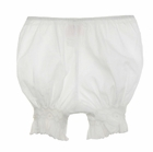 NEW Will'Beth White Smocked Pantaloons with White Embroidered Flowers