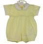 NEW Will'Beth Yellow Pintucked Romper with Embroidered Bunny