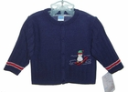 NEW Will'Beth Navy Blue Sweater with Penguin Applique