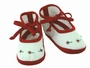 NEW Will'Beth Red and White Shoes with Red Rosebuds