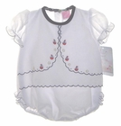 NEW Will'beth White Bubble with Boat Embroidery and Ruffled Bottom