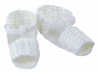 NEW Will'Beth White Knit Sandal Style Booties