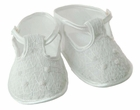 NEW Will'Beth White Smocked Shoes with White Embroidery
