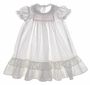 "<img src=""https://p11.secure.hostingprod.com/@grammies-attic.com/ssl/images/blue-sold-1.gif""> Polly Flinders Pink Rosebud Print Long Baby Dress with Lacy Ruffled Hem"