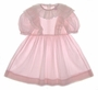 """<img src=""""https://p11.secure.hostingprod.com/@grammies-attic.com/ssl/images/blue-sold-1.gif""""> Polly Flinders Pink Striped Dress with White Eyelet Ruffled Collar"""
