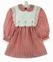 """<img src=""""https://p11.secure.hostingprod.com/@grammies-attic.com/ssl/images/blue-sold-1.gif""""> Polly Flinders Red Striped Dress with Gingerbread Embroidered Pinafore"""
