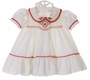 "<img src=""https://p11.secure.hostingprod.com/@grammies-attic.com/ssl/images/blue-sold-1.gif""> NEW Polly Flinders White Smocked Dress with Red Poinsetta Embroidery"