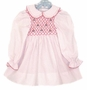 Polly Flinders White Dotted Smocked Toddler Dress with Candles Embroidery