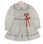 "<img src=""https://p11.secure.hostingprod.com/@grammies-attic.com/ssl/images/blue-sold-1.gif""> Polly Flinders White Smocked Dress with Green Dots and Red Embroidered Bells"