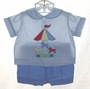 "<img src=""https://p11.secure.hostingprod.com/@grammies-attic.com/ssl/images/blue-sold-1.gif""> Retro 1950s Blue Diaper Set with Appliqued Carousel"