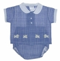 "<img src=""https://p11.secure.hostingprod.com/@grammies-attic.com/ssl/images/blue-sold-1.gif""> Retro 1950s Blue Plaid Diaper Set with Appliqued Puppies"