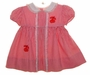 "<img src=""https://p11.secure.hostingprod.com/@grammies-attic.com/ssl/images/blue-sold-1.gif""> Retro 1950s Nannette Red Striped Baby Dress with Appliqued Cherries"