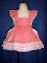 "<img src=""https://p11.secure.hostingprod.com/@grammies-attic.com/ssl/images/blue-sold-1.gif""> Retro 1950s Red Checked Pinafore with White Lace for Baby Girls"