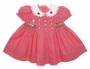 "<img src=""https://p11.secure.hostingprod.com/@grammies-attic.com/ssl/images/blue-sold-1.gif""> Retro 1950s Style BT Kids Red Checked Baby Dress with Embroidered Bunny"