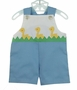 "<img src=""https://p11.secure.hostingprod.com/@grammies-attic.com/ssl/images/blue-sold-1.gif""> Retro 1970s Unworn Blue Sunsuit with Appliqued Yellow Ducks"