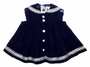 NEW Good Lad Navy Sleeveless Sailor Dress with White Braid Trim