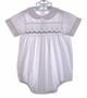 "<img src=""https://p11.secure.hostingprod.com/@grammies-attic.com/ssl/images/blue-sold-1.gif""> Smockery White Smocked Bubble with Christmas Tree Embroidery"