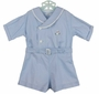 "<img src=""https://p11.secure.hostingprod.com/@grammies-attic.com/ssl/images/blue-sold-1.gif""> Vintage 1930s Blue Button On Shorts Set with Bunny Embroidery"