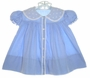 "<img src=""https://p11.secure.hostingprod.com/@grammies-attic.com/ssl/images/blue-sold-1.gif""> Vintage 1930s Shirley Temple Style Blue Dress with White Organdy Embroidered Collar"