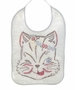 "<img src=""https://p11.secure.hostingprod.com/@grammies-attic.com/ssl/images/blue-sold-1.gif""> Vintage 1930s White Cotton Bib with Winking Cat Embroidery"