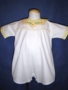 "<img src=""https://p11.secure.hostingprod.com/@grammies-attic.com/ssl/images/blue-sold-1.gif""> Vintage 1930s White Romper with Yellow Embroidered Collar"