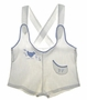 "<img src=""https://p11.secure.hostingprod.com/@grammies-attic.com/ssl/images/blue-sold-1.gif""> Vintage 1930s White Sunsuit with Blue Bird Applique and Embroidery"