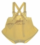 "<img src=""https://p11.secure.hostingprod.com/@grammies-attic.com/ssl/images/blue-sold-1.gif""> Vintage 1930s Yellow Sunsuit with Brown Embroidered Ship"