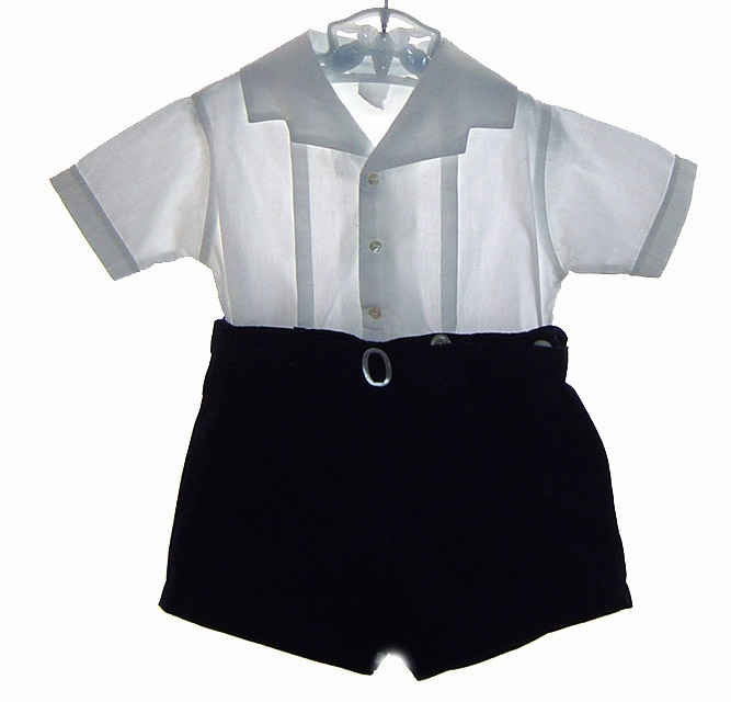 boys heirloom button on shirt and shorts