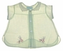 "<img src=""https://p11.secure.hostingprod.com/@grammies-attic.com/ssl/images/blue-sold-1.gif""> Vintage 1940s Pale Green Batiste Diaper Shirt with Embroidered Kitten On Bicycle"