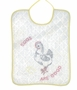 "<img src=""https://p11.secure.hostingprod.com/@grammies-attic.com/ssl/images/blue-sold-1.gif"">Vintage 1940s White Cotton Quilted Bib with Chicken and Eggs Embroidery"