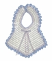 "<img src=""https://p11.secure.hostingprod.com/@grammies-attic.com/ssl/images/blue-sold-1.gif""> Vintage 1940s White Crocheted Bib with Blue Crocheted Edging"
