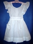 "<img src=""https://p11.secure.hostingprod.com/@grammies-attic.com/ssl/images/blue-sold-1.gif""> Vintage 1940s White on White Striped Dimity Pinafore for Big Sister"