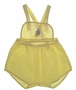 "<img src=""https://p11.secure.hostingprod.com/@grammies-attic.com/ssl/images/blue-sold-1.gif""> Vintage 1940s Yellow Sunsuit with Sailboat Embroidery"