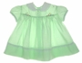 "<img src=""https://p11.secure.hostingprod.com/@grammies-attic.com/ssl/images/blue-sold-1.gif""> Vintage 1950s Baby Togs Green Dress with Smocking"