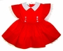 "<img src=""https://p11.secure.hostingprod.com/@grammies-attic.com/ssl/images/blue-sold-1.gif""> Vintage 1950s Kate Greenaway Red Dress with White Eyelet Trim"