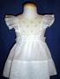 "<img src=""https://p11.secure.hostingprod.com/@grammies-attic.com/ssl/images/blue-sold-1.gif""> Vintage 1950s White Organdy Pinafore with Embroidered Pink Rosebuds"