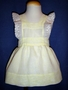 "<img src=""https://p11.secure.hostingprod.com/@grammies-attic.com/ssl/images/blue-sold-1.gif""> Vintage 1950s Yellow Organdy Pinafore with Embroidered Lace"