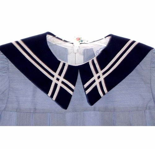 vintage style dress navy blue and white striped sailor dress Child\u2019s classic age 1-2 yrs