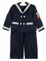 Vintage Navy Sailor Suit with Double Breasted Jacket