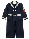 """<img src=""""https://p11.secure.hostingprod.com/@grammies-attic.com/ssl/images/blue-sold-1.gif""""> Vintage Navy Sailor Suit with Double Breasted Jacket"""