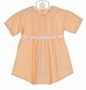 """<img src=""""https://p11.secure.hostingprod.com/@grammies-attic.com/ssl/images/blue-sold-1.gif""""> Heirloom 1930s Salmon Cotton Romper with Scalloped Collar"""
