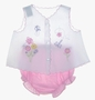 "<img src=""https://p11.secure.hostingprod.com/@grammies-attic.com/ssl/images/blue-sold-1.gif""> Vintage White Diaper Set with Embroidered Flowers and Pink Gingham Diaper Cover"