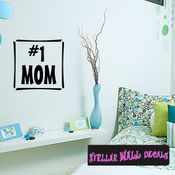 #1 Mom Mother's Day Holiday Wall Decals - Wall Quotes - Wall Murals F041 SWD