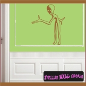 Alien Aliens Ufo Vinyl Wall Decal - Wall Sticker - Car Sticker Alienst002 SWD