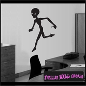 Alien Aliens Ufo Vinyl Wall Decal - Wall Sticker - Car Sticker Alienst005 SWD