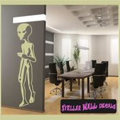 Alien Aliens Ufo Vinyl Wall Decal - Wall Sticker - Car Sticker Alienst008 SWD